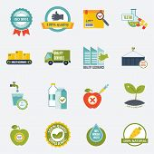 Quality control icons flat