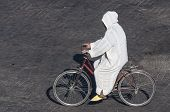 Moroccan Man On Bicycle
