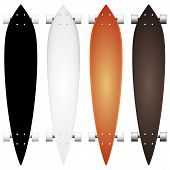 Colored vector mock-up for longboards