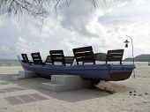 The boat on the beach