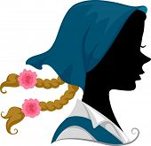 Illustration Featuring the Silhouette of an Austrian Girl