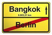 German yellow city limit