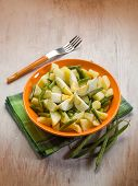picture of boil  - potatoes salad with  green beans and boiled eggs - JPG