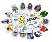 stock photo of collaboration  - Teamwork Team Together Collaboration Meeting Working Office Concept - JPG
