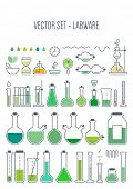 stock photo of chemical reaction  - Vector set  - JPG
