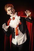 foto of dracula  - Handsome bloodthirsty vampire - JPG