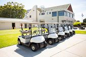 picture of buggy  - Golf buggy at the golf course parking - JPG