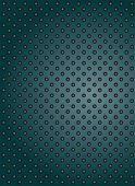 picture of metal grate  - Concept conceptual green abstract metal stainless steel aluminum perforated pattern texture mesh background as metaphor to industrial - JPG