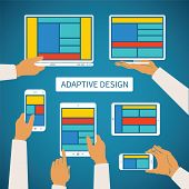 picture of smart grid  - Vector concept of modern adaptive responsive web and application design - JPG