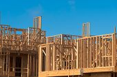pic of 2x4  - Wooden framing for construction of new condominiums - JPG