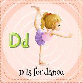 foto of letter d  - Alphabet D is for dance - JPG