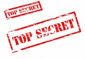 picture of top-secret  - Stamp with text top secret inside vector illustration - JPG