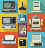 Постер, плакат: Vector set of retro and vintage items