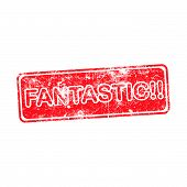 stock photo of you are awesome  - Fantastic red grungy stamp isolated on white background - JPG