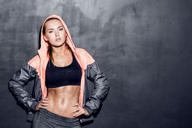 picture of slim model  - attractive fitness woman - JPG