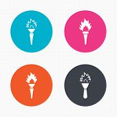 foto of flame  - Circle buttons - JPG