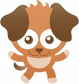 picture of baby dog  - Cute baby dog with brown fur - JPG