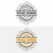 Set of vintage logo, label, badge and logotype elements for jewelry, shop or company poster