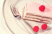 picture of pound cake  - Capture of Delicious cake with berries on plate - JPG