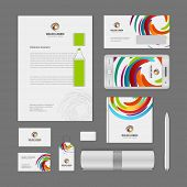 Corporate Identity Template with Logotype. Vector Illustration of Business Corporate Objects poster