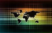 pic of international trade  - International Trade on a Global Scale with Map background - JPG