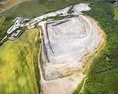 stock photo of mines  - Aerial view of abandoned mine - JPG