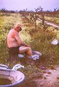 stock photo of wash-basin  - Vintage photo  - JPG
