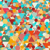 image of hexagon pattern  - Colorful geometric background - JPG
