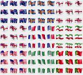 stock photo of nigeria  - Cook Islands Aland England Herm France Iran Bikini Atoll Nigeria Portugal - JPG
