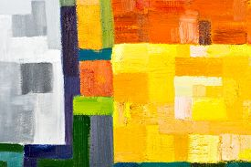 foto of canvas  - abstract texture background of an original oil geometric painting close - JPG