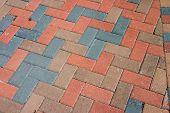 Diagonal Brick Pavers