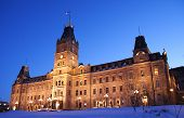 Quebec parliament building (H�´tel du Parlement) in winter Quebec city.