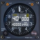 Electronic Altimeter Close Up