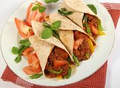 stock photo of mexican food  - mexican beef fajitas - JPG