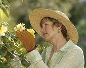Middle Age Female Gardener