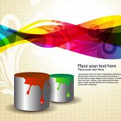 vector paint bucket with colors