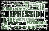 Severe Depression Medical Mental State Background