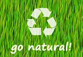 Go Pure and Natural Now Abstract Background