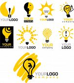 icons of  light bulb