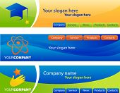 template of website banners / headers, easy to edit, vector file - 3