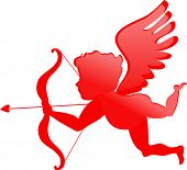 image of san valentine  - red cupid  - JPG