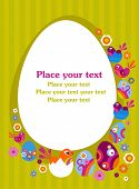 pic of easter flowers  - Easter greeting card with decorative egg - JPG