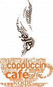 picture of latte coffee  - cup of coffee made from typography - JPG
