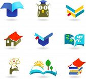 Collection of education and schooling icons