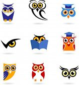 Owl icons set