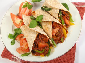 picture of mexican food  -  mexican beef fajitas - JPG