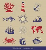 image of shell-fishes  - Decorative Nautical Set - JPG