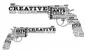 Two creative revolvers made by typography, vector