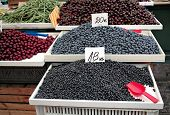 Berries on the food market.