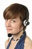 Women With Headset